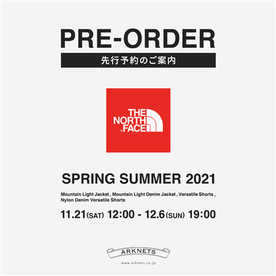 《 THE NORTH FACE 》SPRING SUMMER 2021 先行予約受付中
